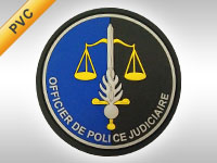 Fabrication écusson OPJ Gendarmerie Nationale PVC 3D Gomme Officier de Police Judiciaire