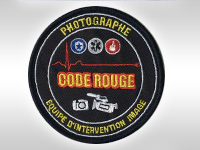Fabrication écusson photographe code rouge
