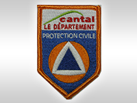 Fabrication écusson brodé protection civile du cantal