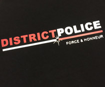 teeshirts district police force et honneur